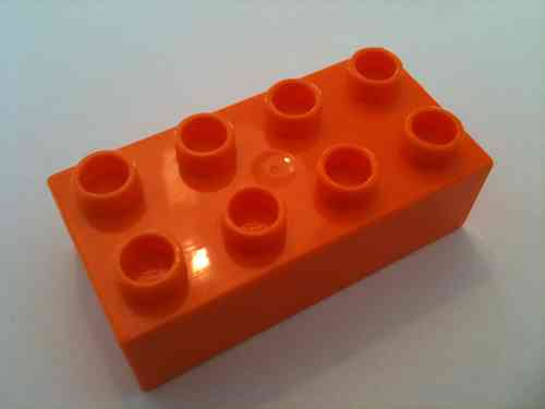 Lego Duplo Baustein 2x4 orange