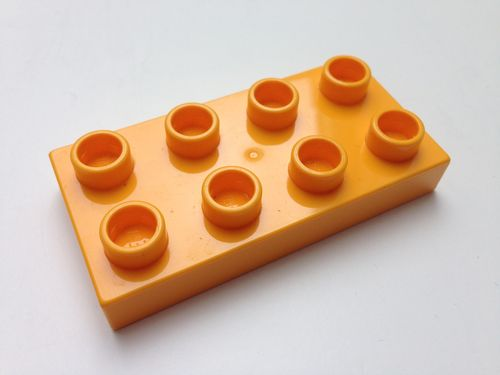 Lego Duplo Bauplatte 2x4 hell-orange