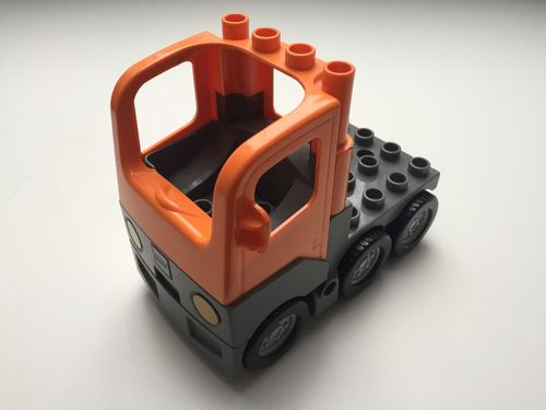 Lego Duplo LKW-Zugmaschine, orange-grau