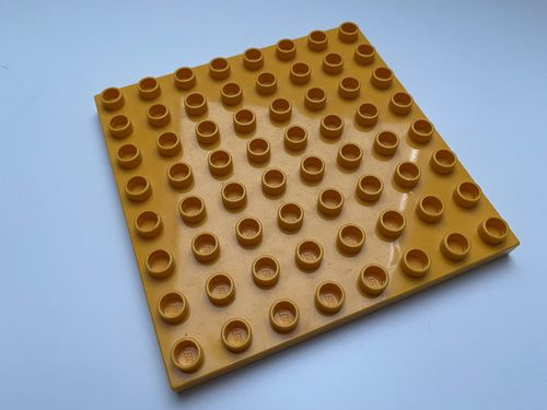 Lego Duplo Bauplatte 8x8 hell-orange